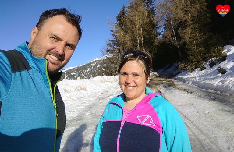 Wanderung zur Pertingeralm - Meine Schwester und ich