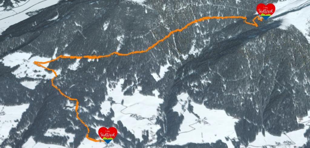 Wintertour zur Taistneralm - Tourenübersicht