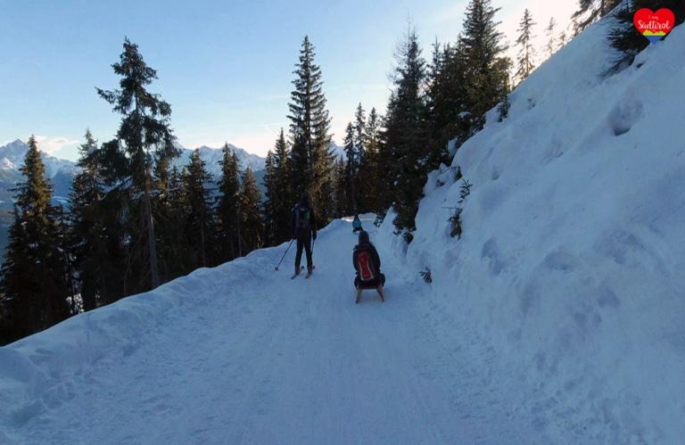 Wintertour zur Taistneralm - Rückfahrt