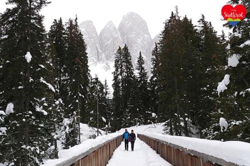 Winterwanderung beim Naturerlebnisweg Zans (Villnösser Alm)