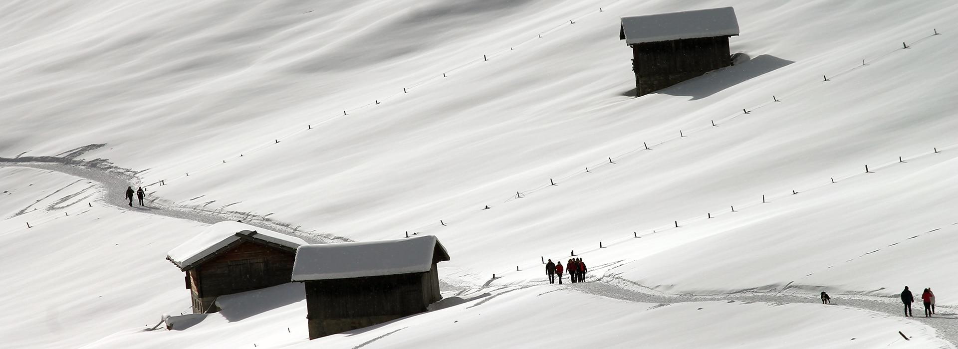 Altfasstal bei Meransen - Winterwandern - schönsten Almen Südtirols