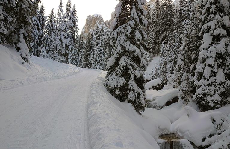 Gampenalm im Villnösstal - Winterwandern