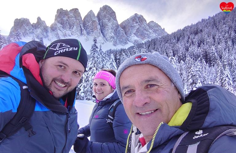 Wintertour zur Gampenalm - mein Vater, meine Schwester und ich