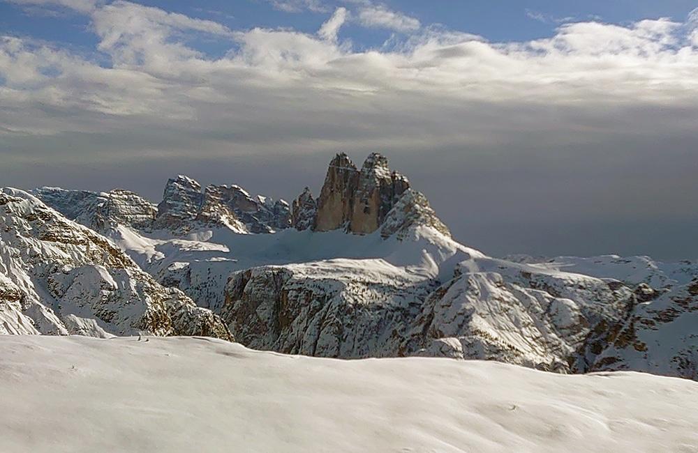Drei Zinnen Blick - Winterwandern - Pragsertal