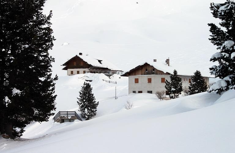 Gampenalm Villnösstal - Winterwandern