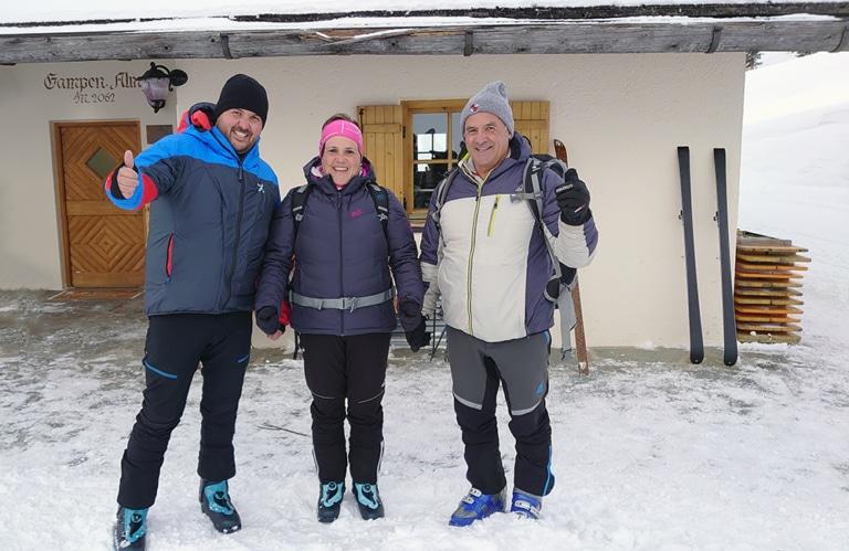 Gampenalm Villnösseralm - Winterwandern