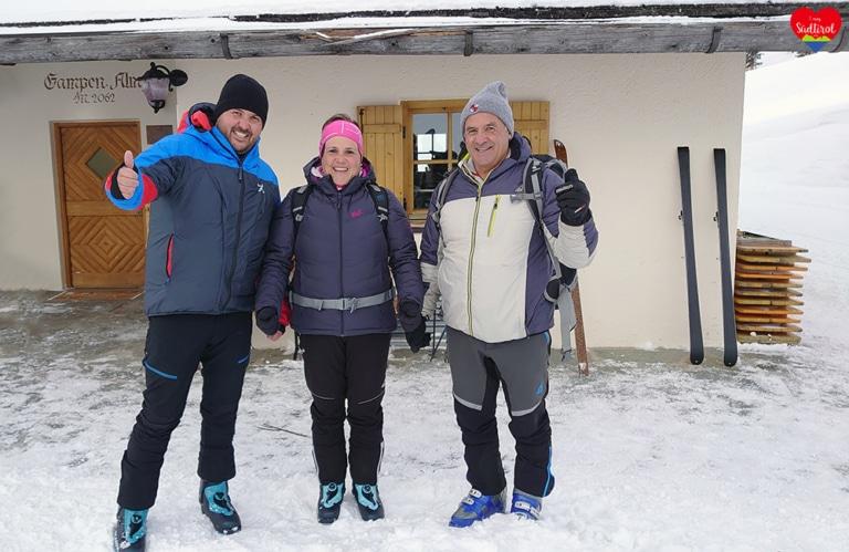 Wintertour zur Gampenalm - Ankunft bei der Gampenalm