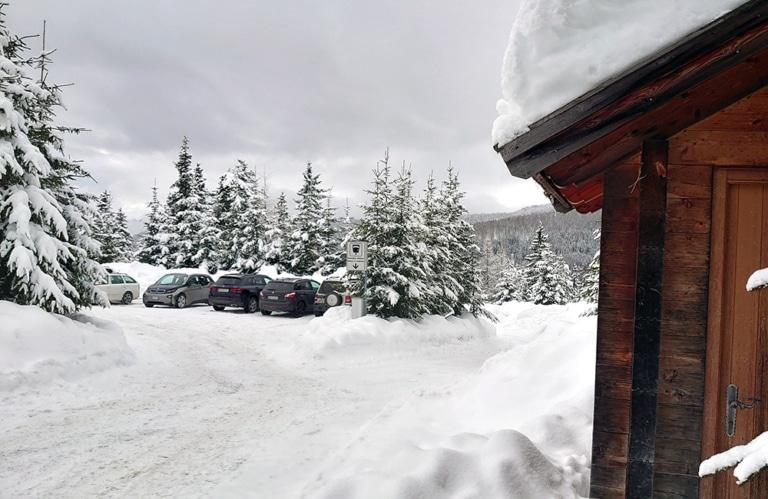 Parkplatz Altfasstal_Winter