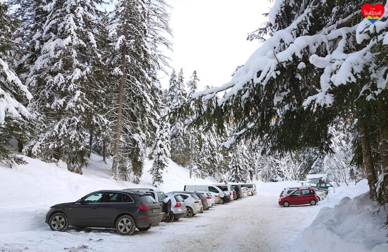Wintertour zur Gampenalm - Parkplatz Zans