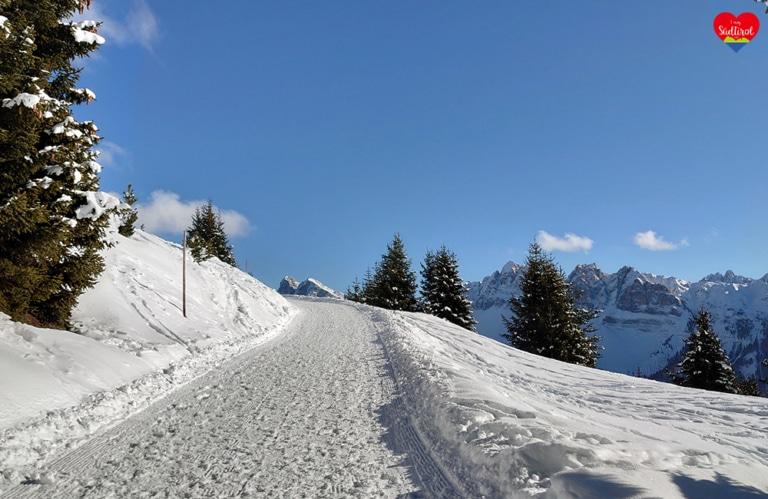 Winterwanderung Rossalm - präparierte Wanderweg
