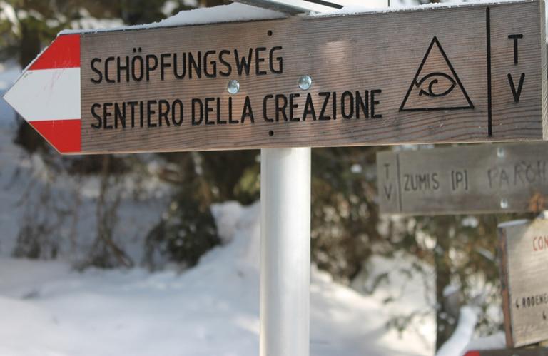 Rodeneckeralm Schöpungsweg - Winterwandern