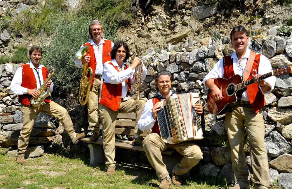 Südtioroler-Spitzbuam Südtirol Musikreisen Konzert Hotel
