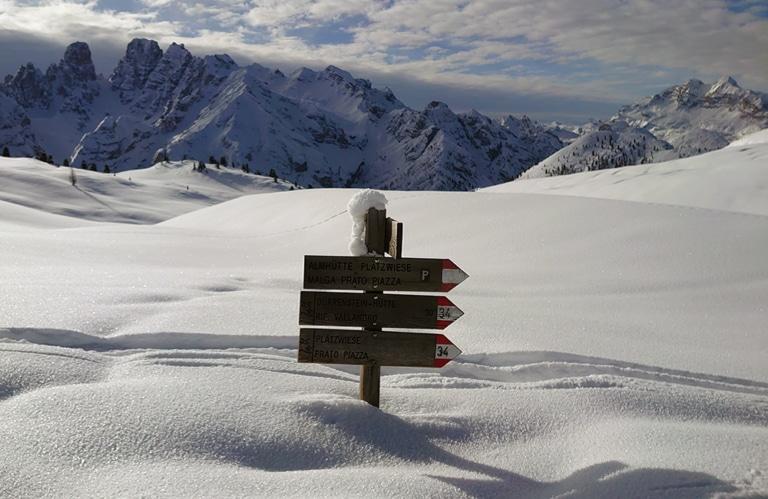 Winterwanderung Plätzwiese Südtirol Prags