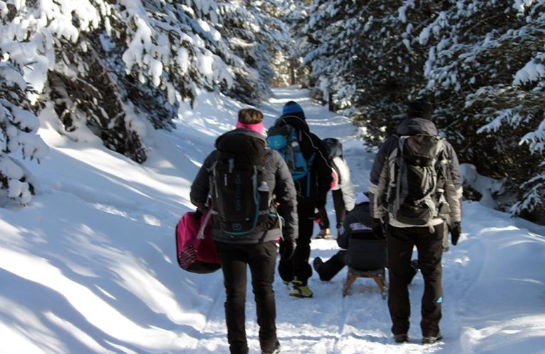 Ronerhütte Rodeneckeralm - Winterwandern